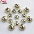 Frete Grátis 200 Pcs 10mm/12mm 2C impressão Padrão Imitação de Pérolas Redondas Meia-face Para Jóias fazendo Artesanato ZZ86