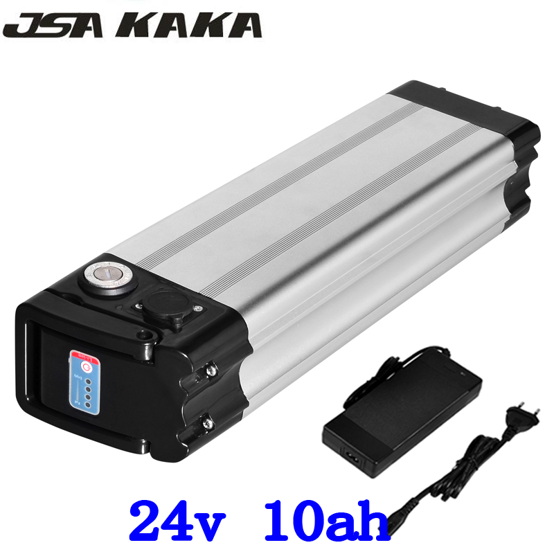цена на 24V 10AH Silver fish e-bike lithium ion battery for a bike 350W 24V10AH Electric bike Li-ion battery 18650 cells with 2A Charger