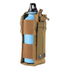 Buy Water Bag Bottle Cantil Militar Pouch Tactical Molle Military Canteen Cover Holster Outdoor Travel Cycling Shooting Kettle 600D directly from merchant!