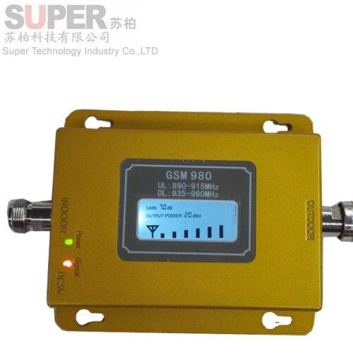 Новый желтый цвет GSM 980 17dbm мощность ЖК-дисплей телефон ракета-носитель репитера GSM повторителя booster, GSM усилитель сигнала gsm booster