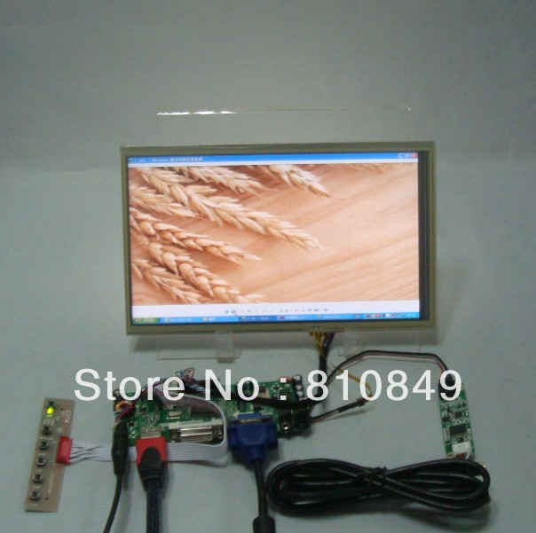HDMI DVI VGA Control board 10 1inch LP101WH1 LTN101AT03 1366 768 Lcd Touch Panel