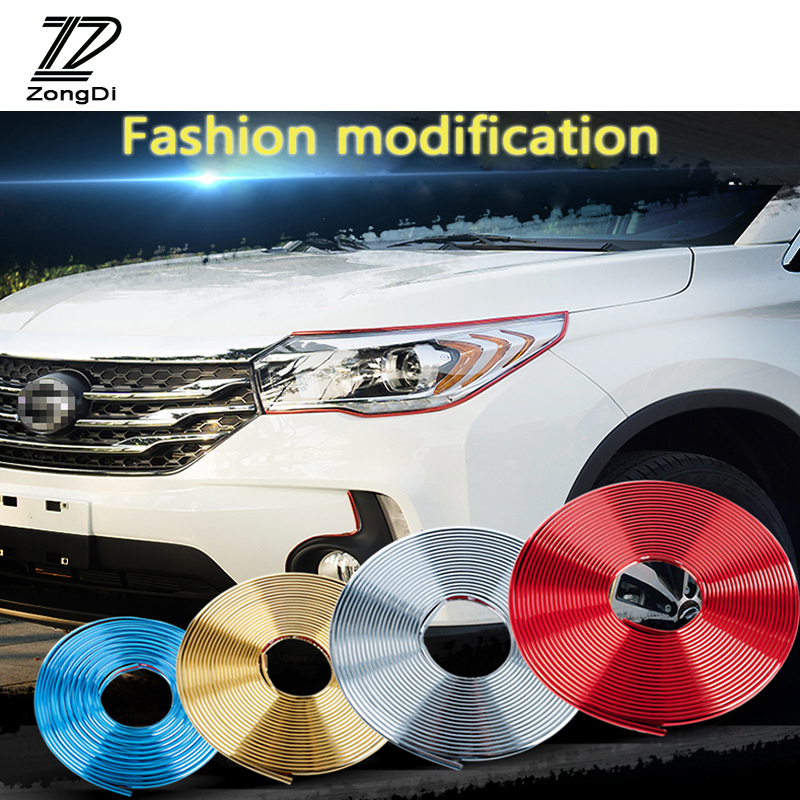 ZD Multifunction Decoration Strip Stickers For Toyota Corolla Seat Leon Jeep Skoda Fabia Rapid Renault Duster Audi A3 Q7 2017