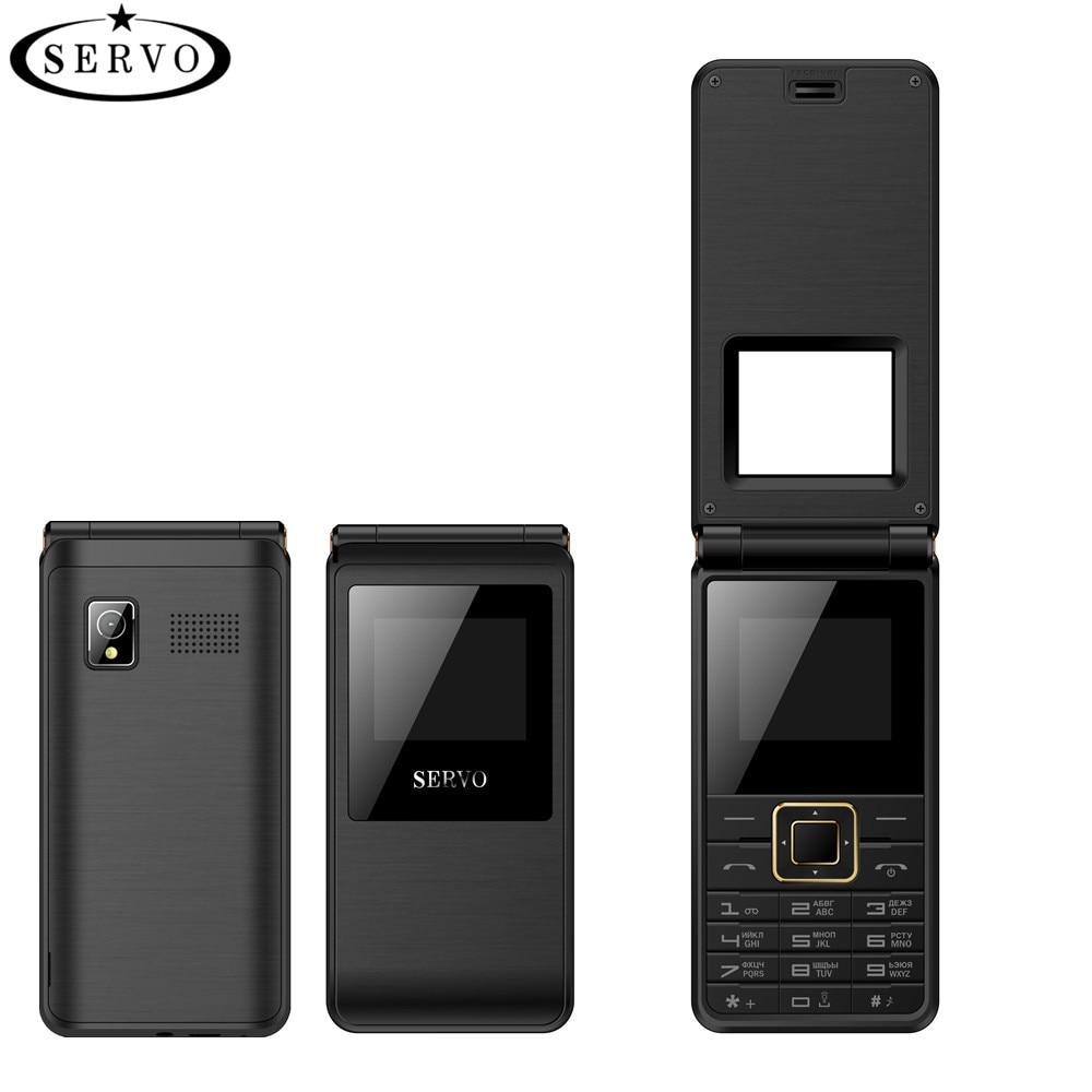 SERVO 2017 Flip Phone 1.77 Spreadtrum6533 Dual SIM Card Cellphone GSM Vibration Outside FM Radio Russian keyboard Mobile phones