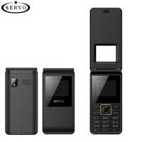 SERVO 2017 Flip Phone 1 77 Spreadtrum6533 Dual SIM Card Cellphone GSM Vibration Outside FM Radio