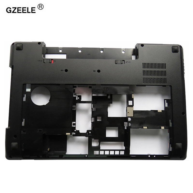 GZEELE New laptop Bottom case cover For Lenovo Y580 Y585 Y580N Y580A series MainBoard Bottom Casing case Base with TV hole