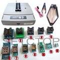 VS4800 Programador Universal EPROM FLASH 51 AVR GAL PIC MCU SPI + SOP8 plcc44 32 28 20 soquete + 12 adaptadores SOP28 tssop28 IC clipe