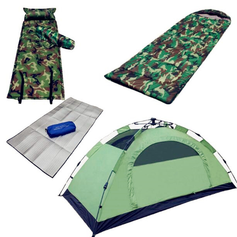 2018 new upgrade double-layer camping tents outdoor automatic quick open tent  breathable ultra-light portable small tents high quality outdoor 2 person camping tent double layer aluminum rod ultralight tent with snow skirt oneroad windsnow 2 plus