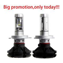 HAMRVL X3 led headlight 50W 6000LM H4 H7 LED Car Headlight 3000K/6500K/8000K ZES Chip H1 H11 9005 HB3 9006 HB4 fog Lamp Auto