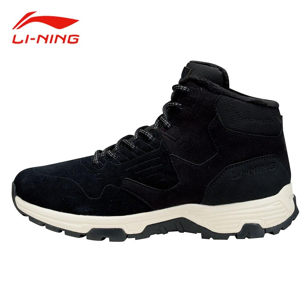 Li-Ning Men Winter Thicken Walking Jogging Shoes WARM SHELL Technology Anti-Slip Sneakers LiNing LN Cozy Sports Shoes AGCM193 original li ning men professional basketball shoes
