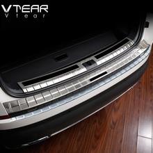 Vtear для Шкода Кадиак Skoda Kodiaq Аксессуары для кузова крышка заднего бампера Защита автомобиля внешний хромированный Стайлинг интерьер автомобиля Стайлинг 2019