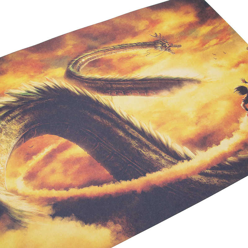 DLKKLB الكلاسيكية أنيمي خمر المشارك لعبة دراغون بول خمر كرافت ورقة غرفة نوم عنبر المنزل اللوحة الزخرفية الفن جدار ملصقا
