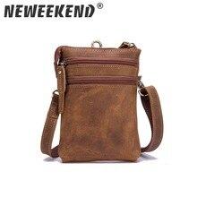цены Real Leather Men Multifunction Design Small Crossbody Messenger One Shoulder Bag Fashion Waist Belt Bag Cigarette Case  2037