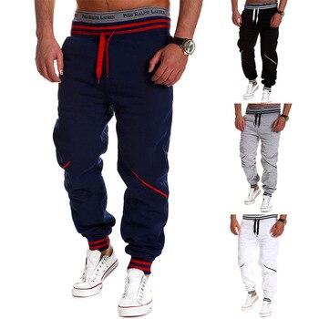 05530eed55379 Pantalones de chándal casual hiphop de hombre Pantalones de algodón  elástico casual para hombre Pantalones de entrenamiento ropa de calle  delgada
