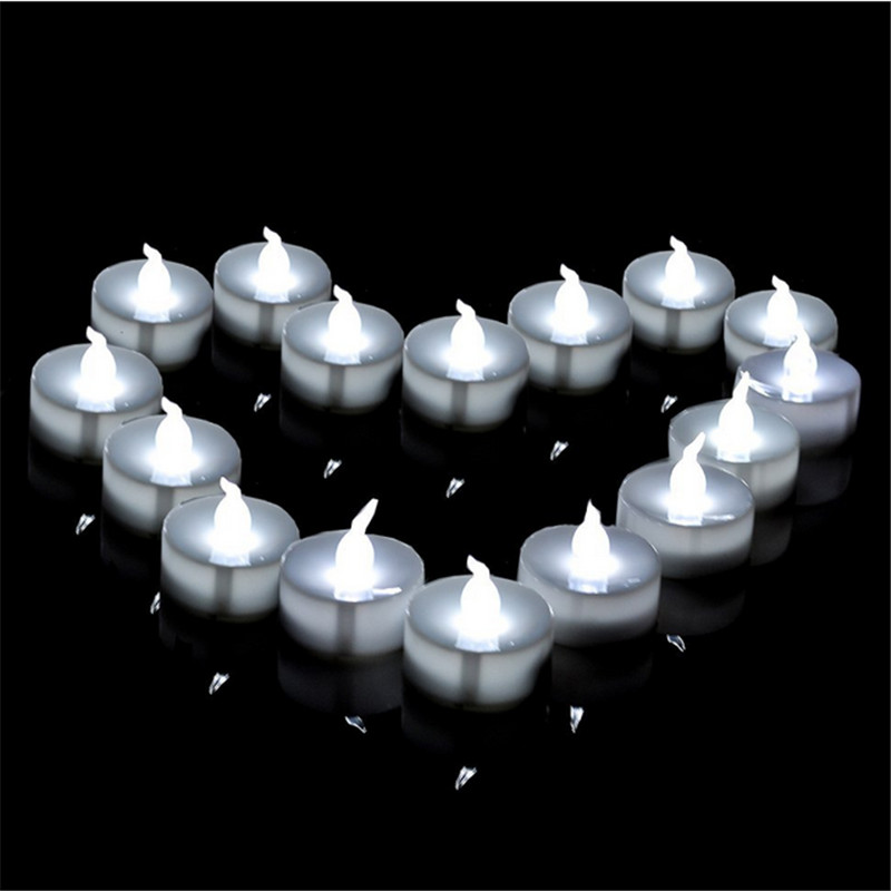 12 pieces warm white tea lights bulk flameless candle light yellow glow battery operated candleelectronic halloween candle in candles from home garden on