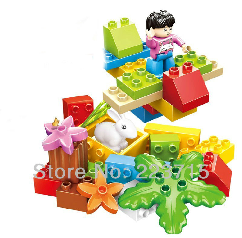 *My fun play* DIY enlighten block bricks,Compatible With Duplo Assembles Particles free shipping the tian an men diy enlighten block bricks compatible with other assembles particles