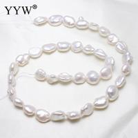 Irregular Shape Natural Freshwater Real White Pearl For Luxury Jewelry Sets To Fashion Women Or Noble