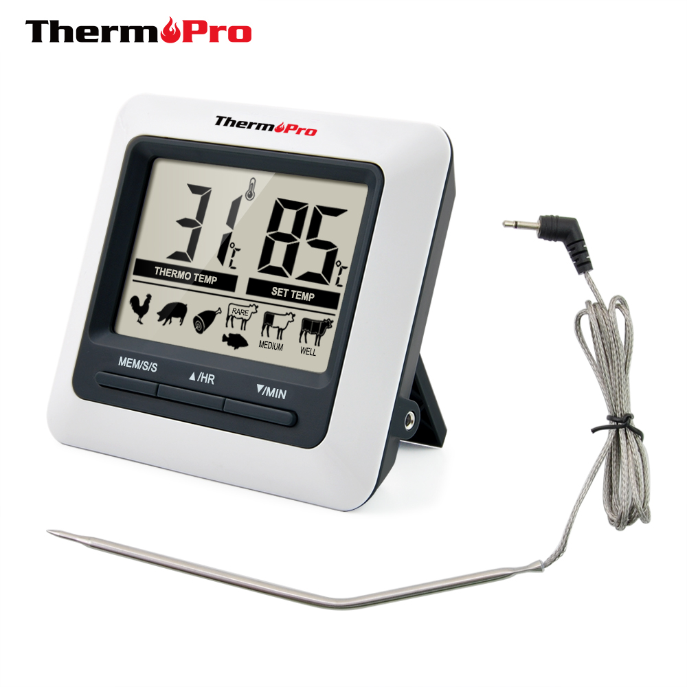 ThermoPro TP04 Large LCD Digital Kitchen Food Meat Thermometer BBQ Thermometer for Grill Oven Smoker Cooking