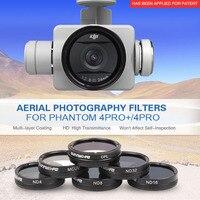 Tüketici Elektroniği'ten Drone Aksesuarları Kitleri'de SUNNYLIFE 6 Adet filtre seti ile ND4 ND8 ND16 ND32 MCUV CPL filtre DJI Phantom 4 Pro için V2.0 Filtre