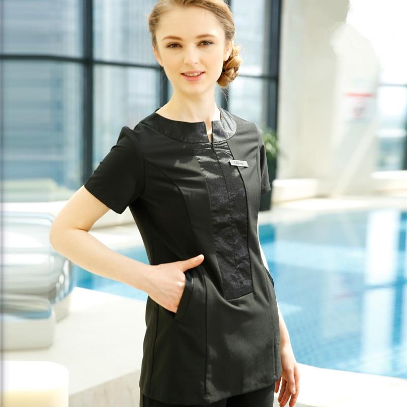 Thai Massage Spa Clothing Set 2017 Summer Short Sleeve