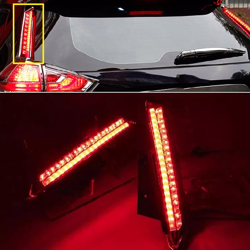 2PCS one SET LED REAR BUMPER LIGHT BRAKE lights taillight fog lamp FIT FOR X-TRAIL xtrail X TRAIL 2014 2015 2016 signal lamp