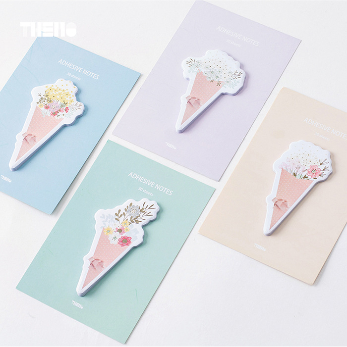 30Pcs/Pack Bouquet of Flowers Post It N Times Adhesive Notes Memo Pad Notebook Student Sticky School Label Gift M0180