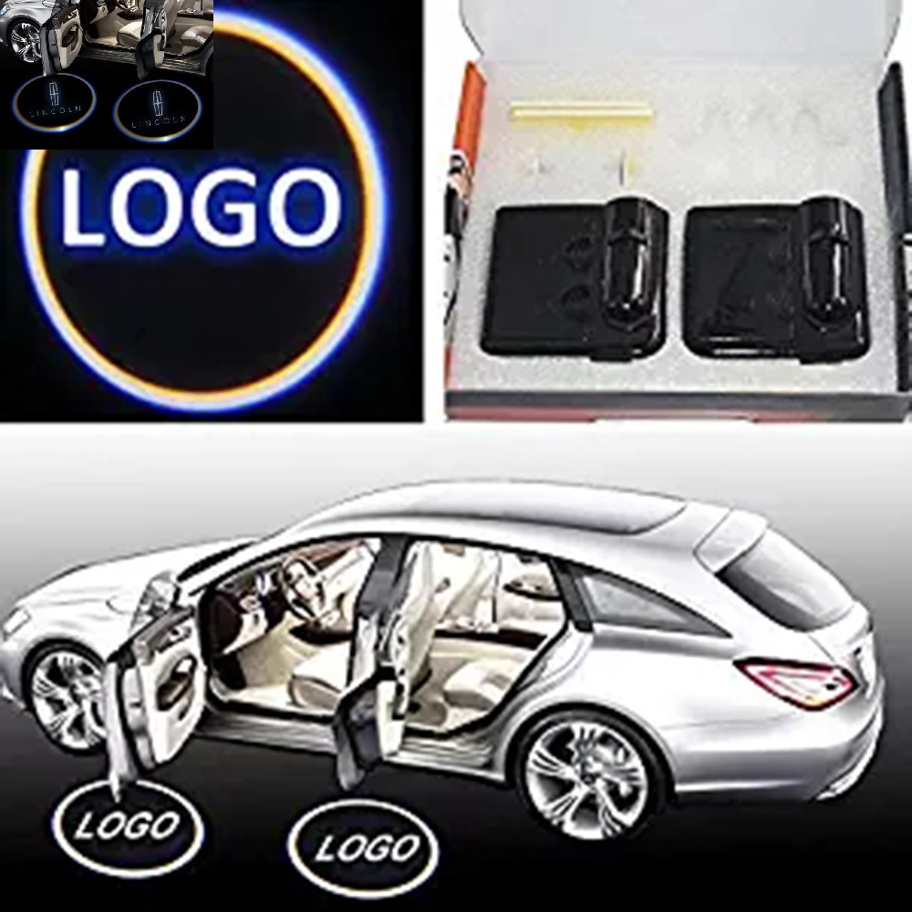 YSY 2X Wireless auto logo projector lights light Welcome Light Logo No Drill Lights LED Laser Ghost Shadow Lamp for Lincoln 2pcs projector laser auto open door welcome step logo led lights for ford blue mustang 50 years 5139