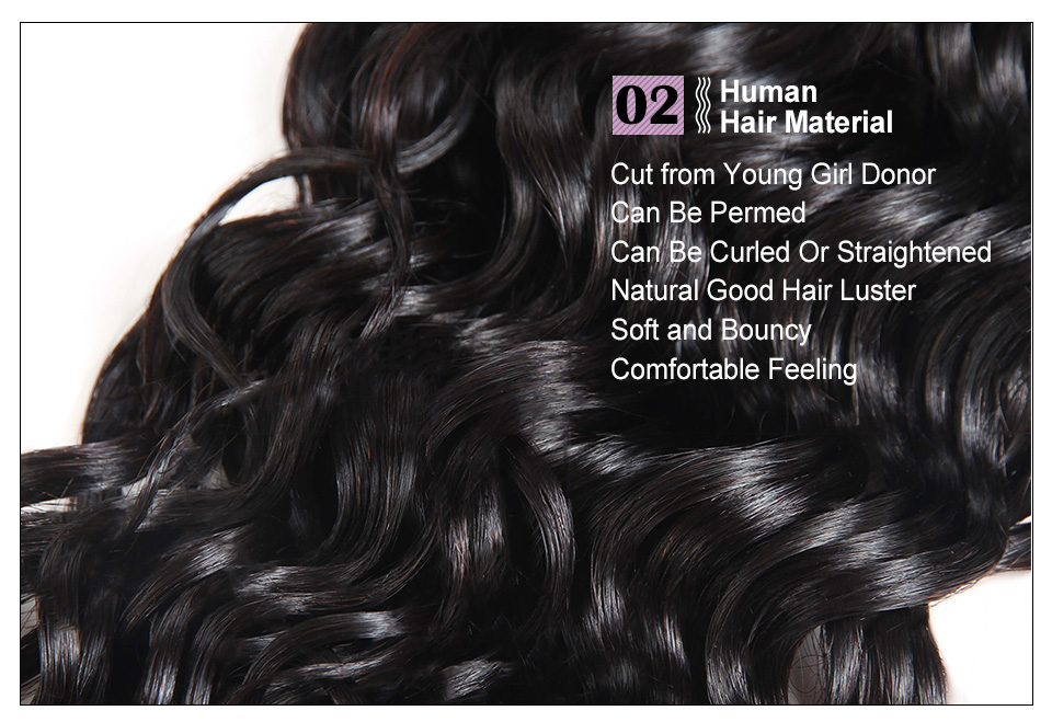 Allove Water Wave Hair Bundles With Closure (13)