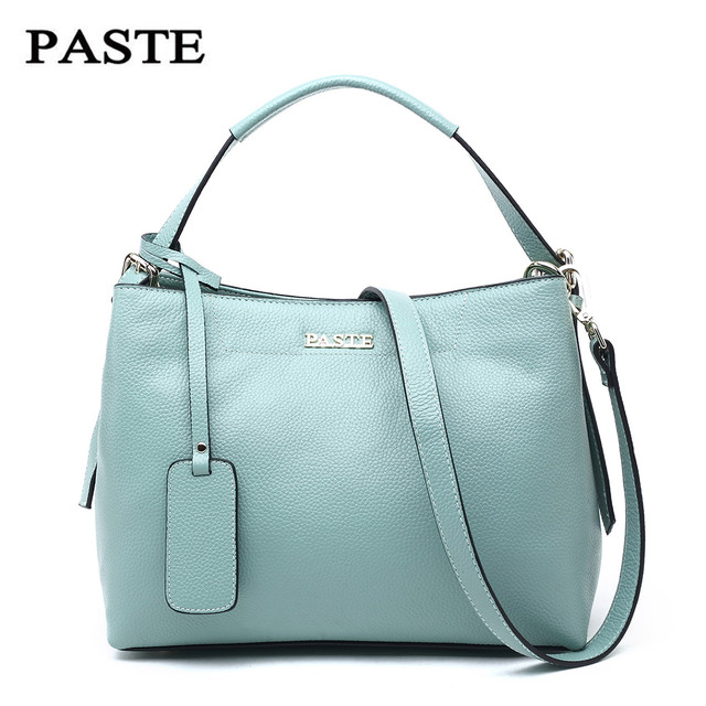 Beautiful PASTE Famous brand designer Natural Cow leather handbag  Classic shoulder messenger bags Casual women leather handbags