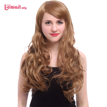 L-email wig New Arrival Women Wigs 5 Colors 60cm Long Wavy Heat Resistant Synthetic Hair Perucas Cosplay Wig for Women