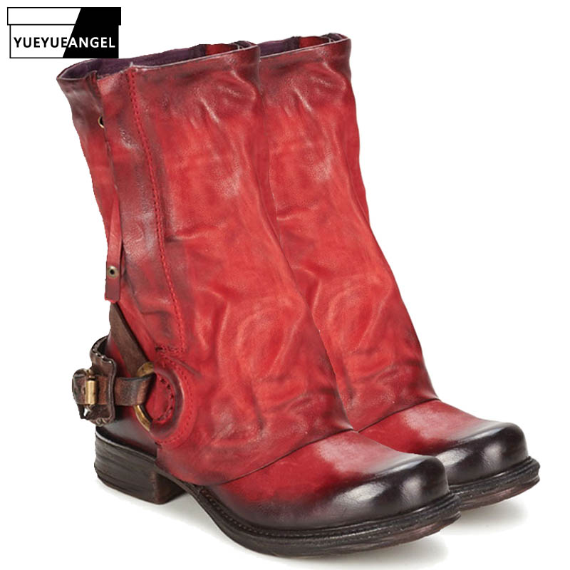 Autumn Winter 100% Real Leather Boots Women Street Thick Heels Knight Boots Retro Zipper Square Toe  Boots Plus Size 42Autumn Winter 100% Real Leather Boots Women Street Thick Heels Knight Boots Retro Zipper Square Toe  Boots Plus Size 42