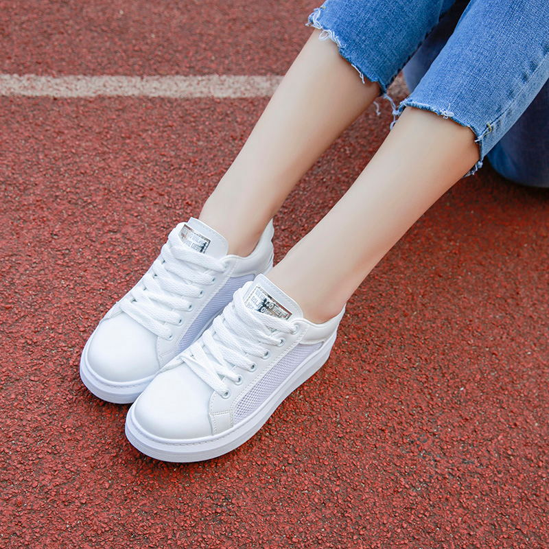 Bout Femme New Blanc Summer Plat argent Microfibre Femmes Casual Dentelle Laisumk Étudiants Rond Chaussures Mocassins up Or 2018 ZwY8vSq