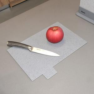 Image 3 - Fissman Anti Bacterium Plastic Chopping Block Non slip Marble Coating Plastic Mats Cutting Board with Stand 4pcs Sets