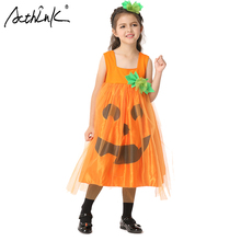 ActhInK Girls Halloween Costume Set Pumpkin Cosplay Suits Kids Performance Birthday Suit Yarn Dress Costumes with  sc 1 st  AliExpress.com & Buy flower child halloween costume children and get free shipping on ...