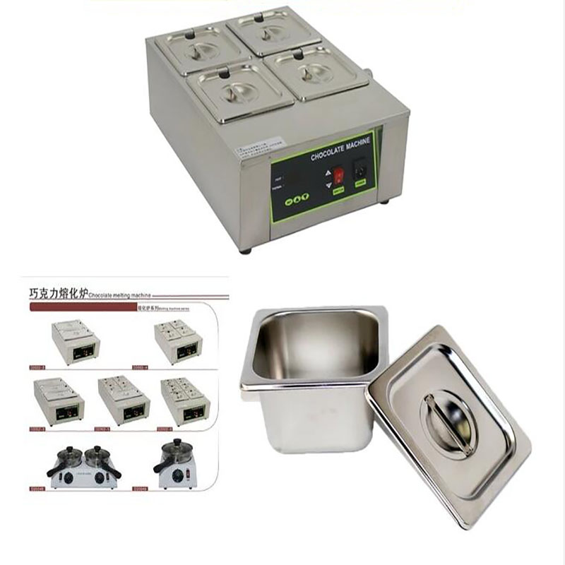 4 cylinder DIY electric chocolate fountain chocolate soaps melting furnace pot thermostatic kerotherapy machine 1000w 1pc