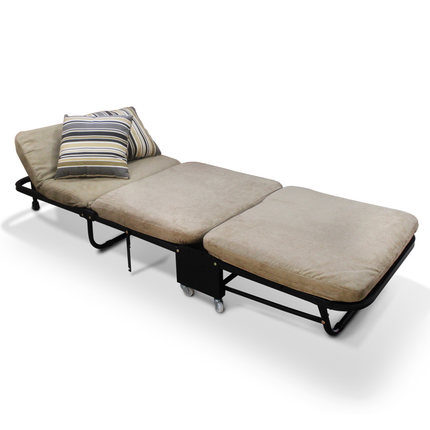 Ланч-брейк, складная односпальная кровать для офиса, трехслойная губчатая складная кровать для отдыха, Простая кровать для ухода - Цвет: light yellow
