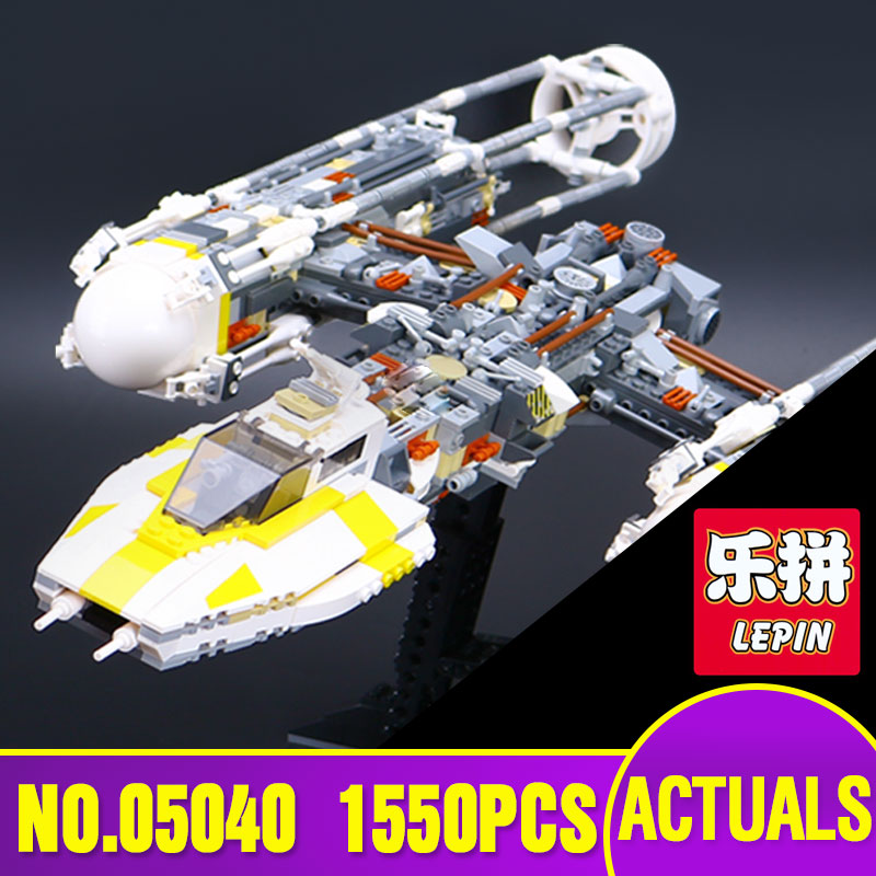 New LEPIN  05040 Star Series Wars Y Attack Starfighter wing Building Block Assembled Brick Compatible with 10134 Children Toys lepin 05040 star series wars y star wing attack fighter building assembled block brick diy toy educational gift compatible 10134