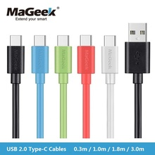 MaGeek USB Type-C Cable 0.3m 1m 1.8m 3.0m Fast Charge Mobile Phone Cables USB-C 2.0 Cable for Samsung S8,Huawei P9,Xiaomi
