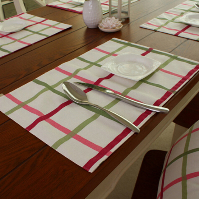 4Pcs Zakka Dining Table Mat Set Decoracao Kitchen Accessories Manteles Individuales Jogo Americano De Jantar Plaid