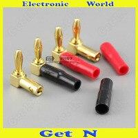 10pcs-100pcs 4mm Elbow Banana Plug/Socket Audio Speacker Cable Terminal Banana Connectors L 90 Degree Banana Jack