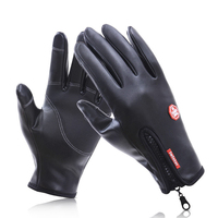 Riding Drive Motorcycle Gloves Luva Motociclista Impermeavel Guantes MOTO Cuero Waterproof Windproof Touch Operation PU Leather