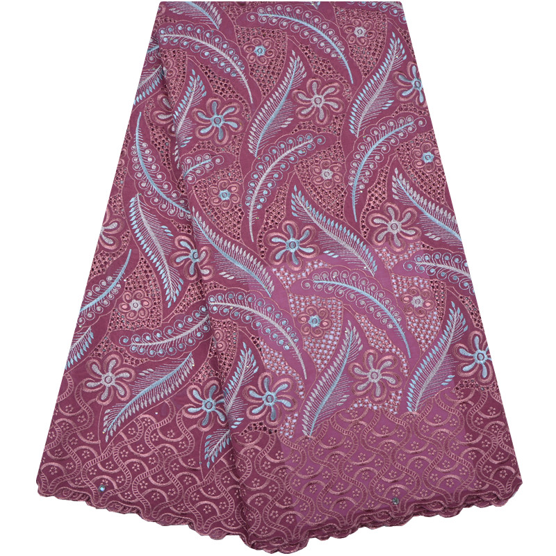 High Quality African Swiss Voile Lace 100 Cotton Embroidered African Lace fabrics In Switzerland For Wedding