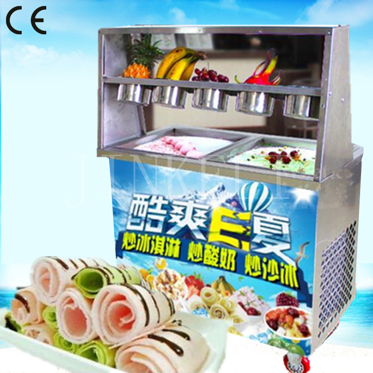 air ship double flat pan and 5 buckets fried ice cream machine,fried ice pan machine,stainless steel ice pan ice cream machine pynkiss w14120830790