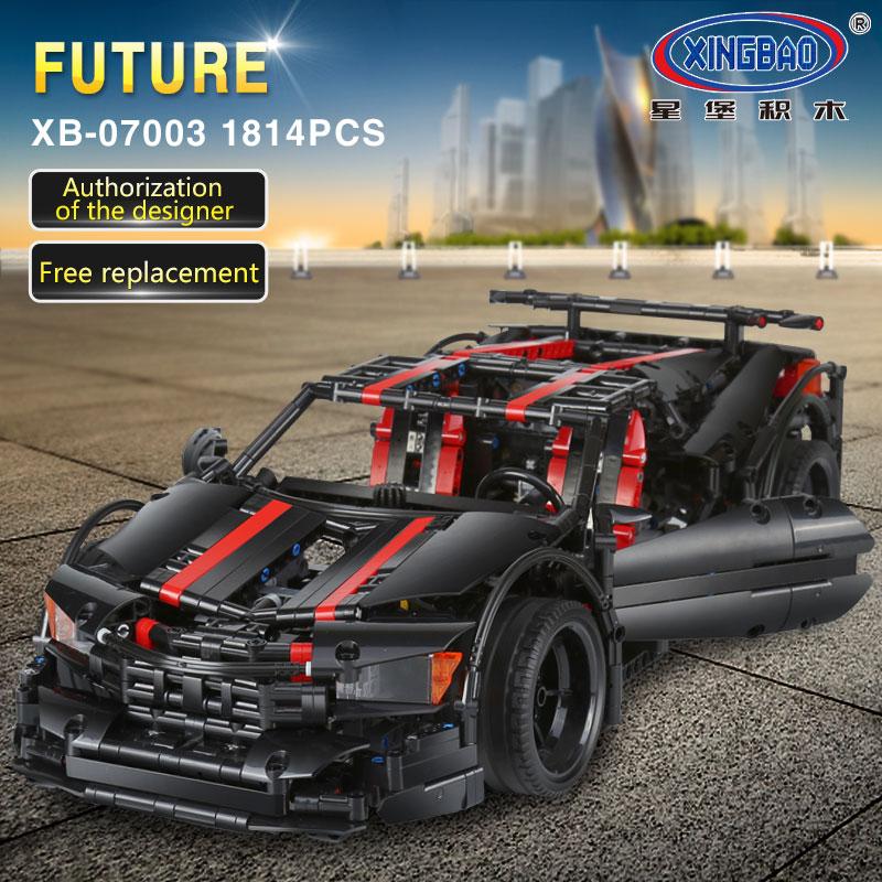 DHL 07001 Creative MOC Legoings Technic the Race Car 07003 set children Educational Building Blocks Bricks 42056 Model Toys