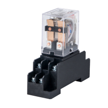 HH62P LY2NJ JQX-13F LY2 Electromagnetic Relays Switch Socket Base AC 220V 110V DC 24V 12V 10A DPDT 8 Pin Copper Coil Power Relay