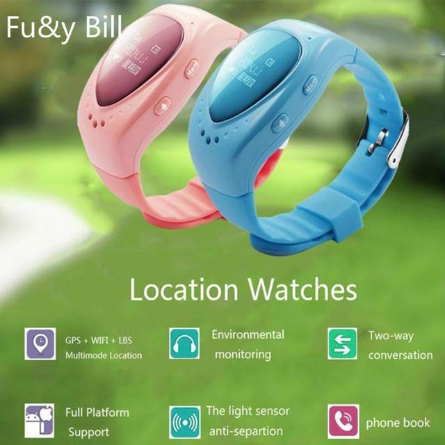 Nueva Moda Wifi GPS Ppositioning A6 Inteligente de Los Niños Relojes OLED Pantalla Anti Perdido SOS Reloj Teléfono Inteligente