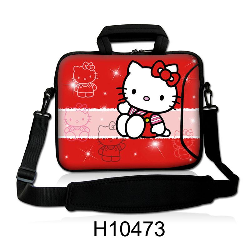 bba7f81c9 Cute Cat Hello Kitty Design Laptop Shoulder Bag Notebook Sling Bag ...