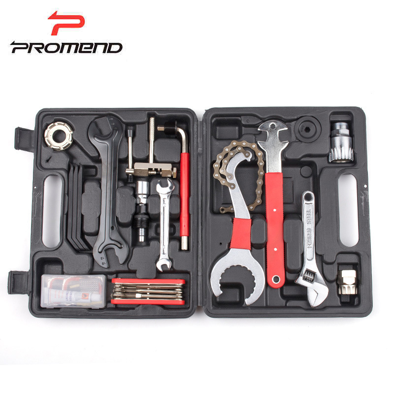 PROMEND MTB Bike Bicycle Repair Tools 16 in 1 Multifunctional Tool Set Kit Cycling Bike Portable Repairing Tool Set With BMC Box high quality portable jakemy bike bicycle repair tool kit set multi tool with screw driver puch pump patches repairing tools
