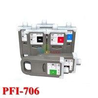 8 cores cartucho de tinta pfi-706 compatível para impressora de canon ipf8400s ipf9400s cartucho de 700 ml com o chip com tinta corante