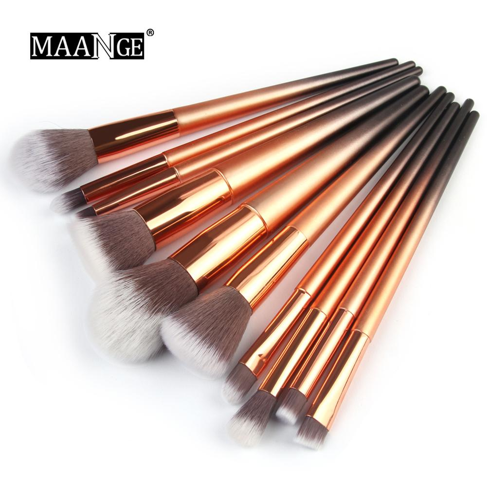 10pcs/set Professional Makeup Brushes Set Powder Foundation Eye Shadow Blush Blending Lip Make Up Beauty Cosmetic Tool Kit молочная смесь нэнни 2 с пребиотиками с 6 мес 400 гр