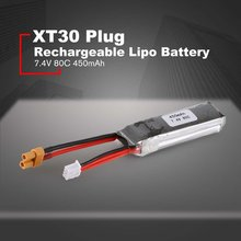 7.4V 80C 450mAh Rechargeable Lipo Battery XT30 Plug Connector For RC Racing Drones FPV Quadcopter Helicopter Airplane